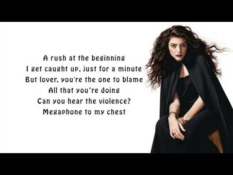 Lorde - The Louvre (lyrics)
