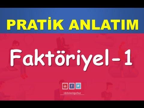 15) TEMEL KAVRAMLAR(Faktöriyel-1) Konu-Soru Çözümü-YKS(TYT)-KPSS-DGS-ALES-Matematik-Abdül Aziz