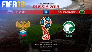 FIFA 18 World Cup - Russia vs. Saudi Arabia @ Luzhniki Stadium (Group A)