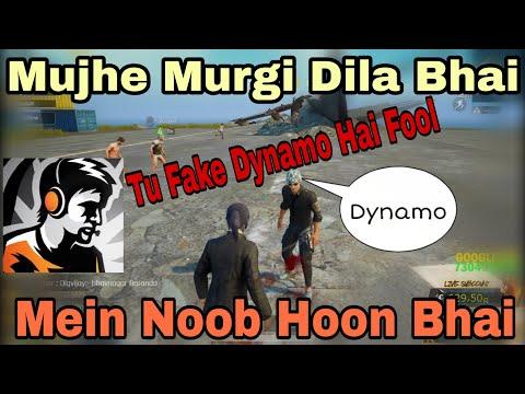 Part 1✔ Dynamo Playing With Random People Mein Noob Hoon Tu Fake Dynamo Hai Fool 😂 Murgi Dila Plz