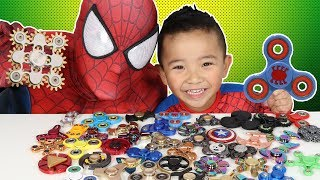 45 Must Have FIDGET SPINNERS!! Spiderman