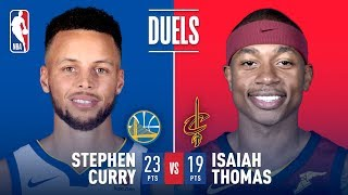 Stephen Curry and Isaiah Thomas Duel in Cleveland | January 15, 2018