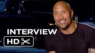 Furious 7 Interview - Dwayne Johnson (2015) - Vin Diesel, Michelle Rodriguez Movie HD