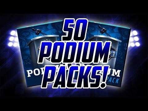 50 PODIUM PACKS 4 MILLION COIN OPENING Draft Promo Madden Mobile 17