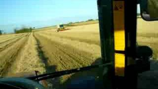 Baling straw right after the combine