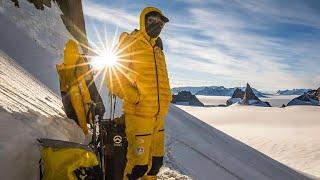 Climbers on scaling Antarctica mountains, spirit of exploration