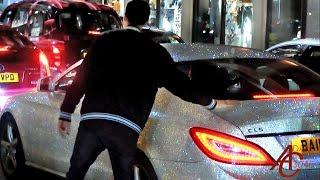 Lads go crazy about Swarovski Crystal coated Mercedes CLS!