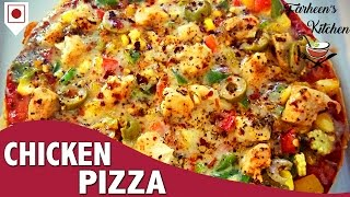 Chicken Pizza Recipe l Chicken Pizza Recipe Without Oven By Furheens Khan l Quick & Easy Step