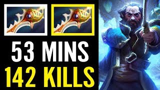 Crazy Game Fights 53 Min Over 142 Kill in Total Babyknight Divine Rapier Dota 2