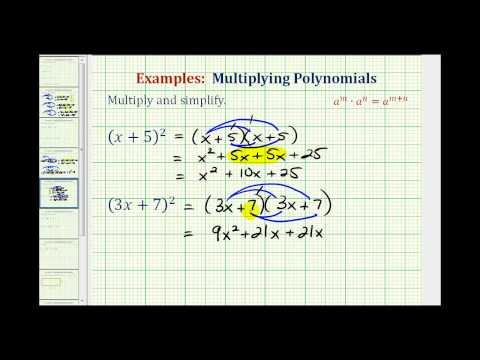 Ex:  Squaring Binomials