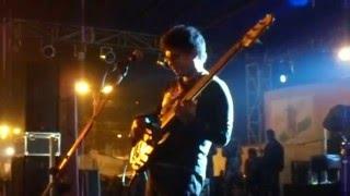 Bengali band Fossils bassist bass solo at panihati utsav