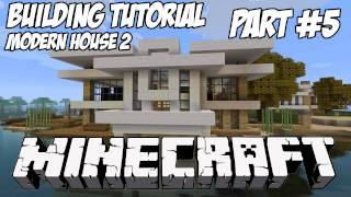 Minecraft Tutorial HD: Modern House 2 - Part 5
