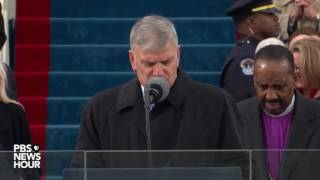 Rev. Franklin Graham offers a prayer at Inauguration Day 2017