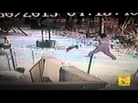 Cat attacks woman in the snow - Cat Goes wild crazy caught on cam! [gato ataca mujer]