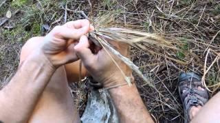How to make grass coiled basket / Jak vyrobit ošatku z trávy, English subtitles