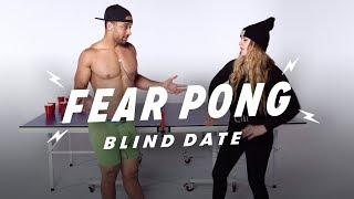 Blind Dates Play Fear Pong (Aaron vs. Alyssa) | Fear Pong | Cut