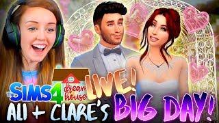 ✨LIVE!!!✨ ALI+CLARE'S BIG DAY?! 👰🤵 (The Sims 4 #50!🏡)