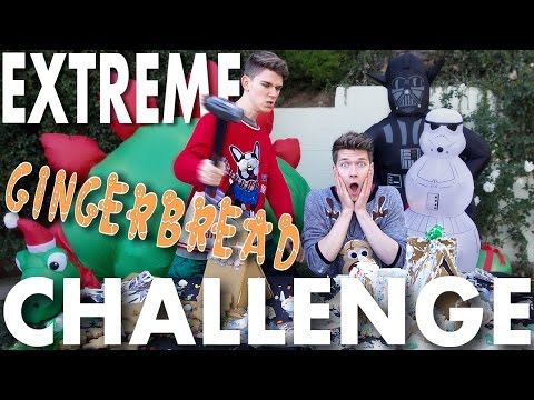 Gingerbread House Challenge gets EXTREME Slow Motion SIBLING TAG Devan & Collins Key
