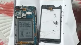 How To Repair Broken Glass Of Micromax Q350//on Budget??