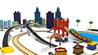 Trains for kids - choo cho train - train cartoon - car cartoon - videos for children