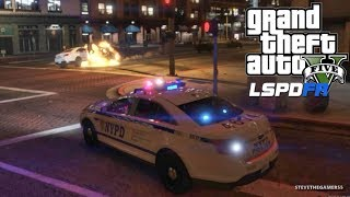 LSPDFR #547 NYPD PATROL!! (GTA 5 REAL LIFE POLICE PC MOD) SINGLE PLAYER #600K
