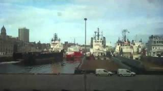 Two offshore vessels collided in Aberdeen.flv