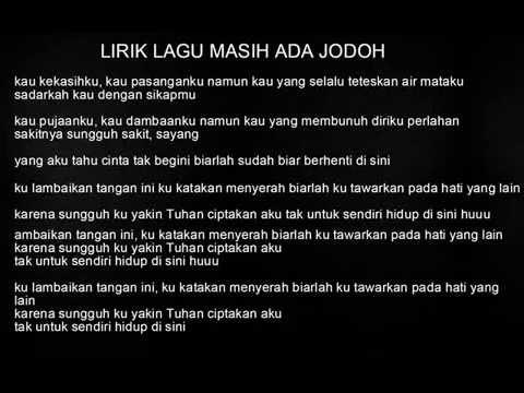 EIRA SYAZIRA - MASIH ADA JODOH LIRIK