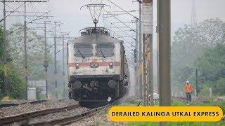 Derailment Run : 18477 Puri Haridwar Kalinga Utkal Express | Indian Railways