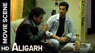 Manoj charges at Rajkummar with an umbrella | Aligarh | Movie Scene