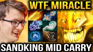 Miracle- SandKing 7.07 Mid CRAZY CARRY Dota 2