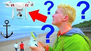 LOST MY NEW DRONE OVER OPEN SEA !!! UK BEACH ADVENTURES 2016!
