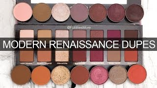 MODERN RENAISSANCE PALETTE DUPES WITH MAKEUP GEEK EYESHADOWS I Futilities And More