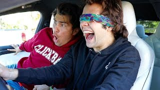 DRIVING MY TESLA WHILE BLINDFOLDED!!