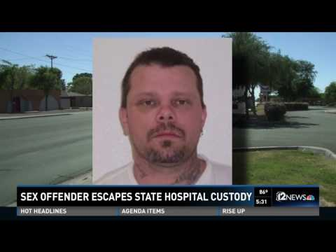 Sex offender escapes state hospital custody
