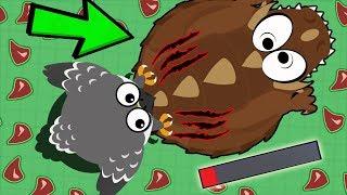 MOPE.IO FALCON KILLS DINO MONSTER! *OMG* NEW BUFFS & NERFS UPDATE (Mope.io Best Moments)
