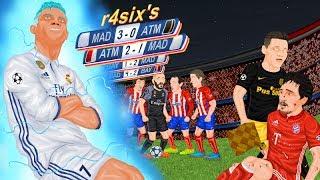 Parodia animada del Real Madrid - Atlético de semifinales de Champions League 2017