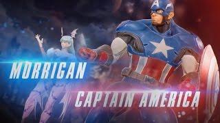 Marvel vs  Capcom Infinite Gameplay Extendido Capitan America y Morrigan