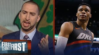 Nick Wright unveils how the Boston Celtics shocked Westbrook's Thunder   FIRST THINGS FIRST