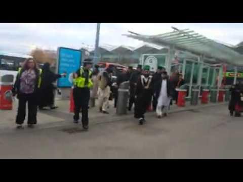Peer naqeeb ur rehman sahib and pir hassan haseeb ur rehman sahib leaving Uk from Birmingham airport