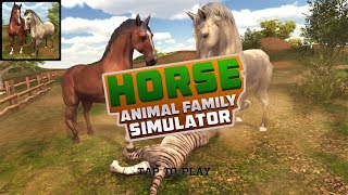 Virtual Wild Horse Family Sim : Animal Horse Games Android Gameplay HD