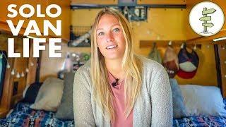 Van Life - Solo Woman Living & Working in an Epic Sprinter Van Conversion