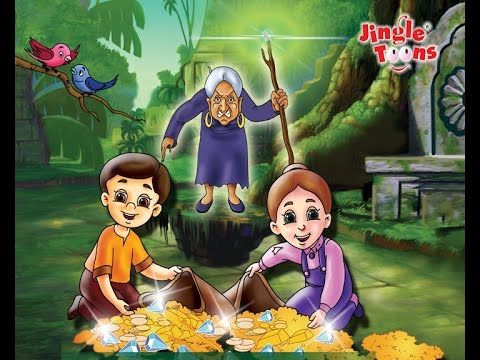 Hansel & Gretel World famous English fairy tale story in cartoon animation by Jingle Toons