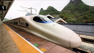 China High Speed Rail (CRH) REVIEW - Over 300kmh   Amazing Bullet Train + Street Food