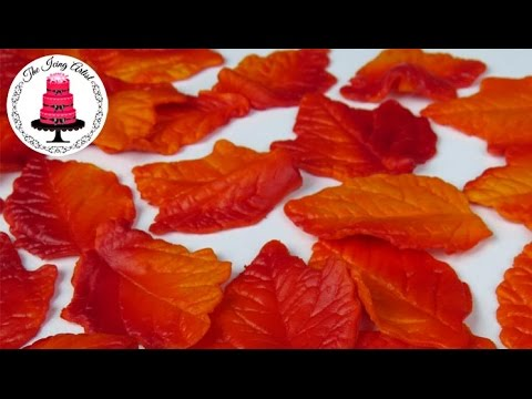 Edible Fall Leaves For Cakes and Cupcakes - How To With The Icing Artist