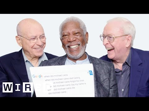 Morgan Freeman Michael Caine and Alan Arkin Answer the Web s Most Searched Questions WIRED