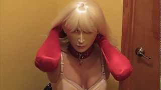 Unmasking Vena, Chinadoll (TS) T-Girl Transexual from a Female Doll Mask PART 2