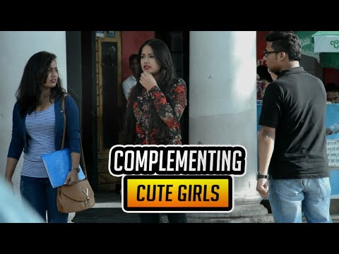 Complementing Cute Girls | Prank | SOS