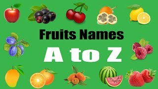 A To Z Fruits Names With Pictures For Children | BD Kids