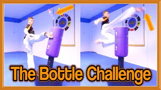 Taekwondo Bottle Kicking Challenge | Crazy Kicks & Accuracy (Includes Slow-Mo)
