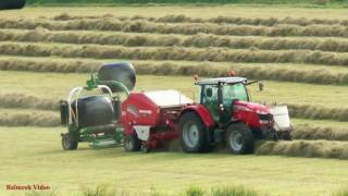 Baling and Wrapping the Forage.